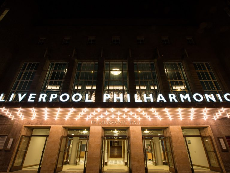 Liverpool Philharmonic's main entrance, from Hope Street