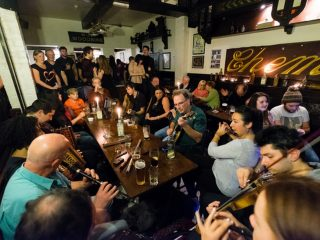 Trad session at Kelly's Dispensary