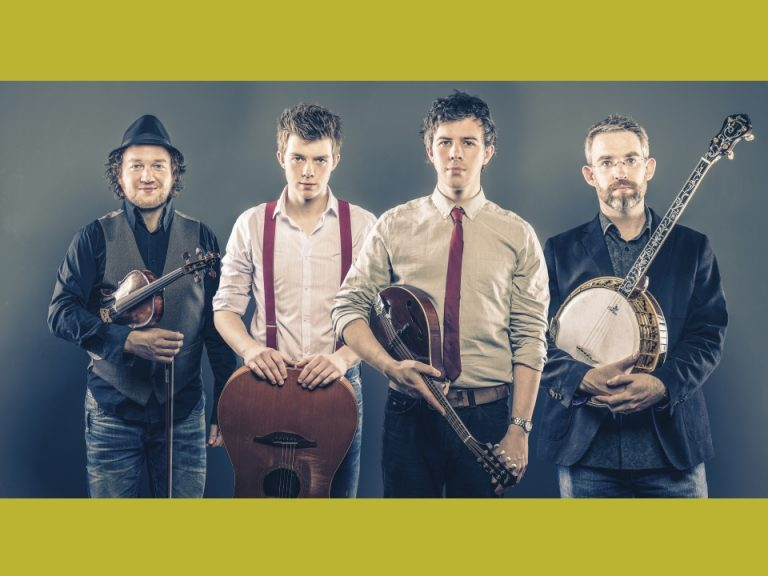 Promotional photograph of the four members of We Banjo 3