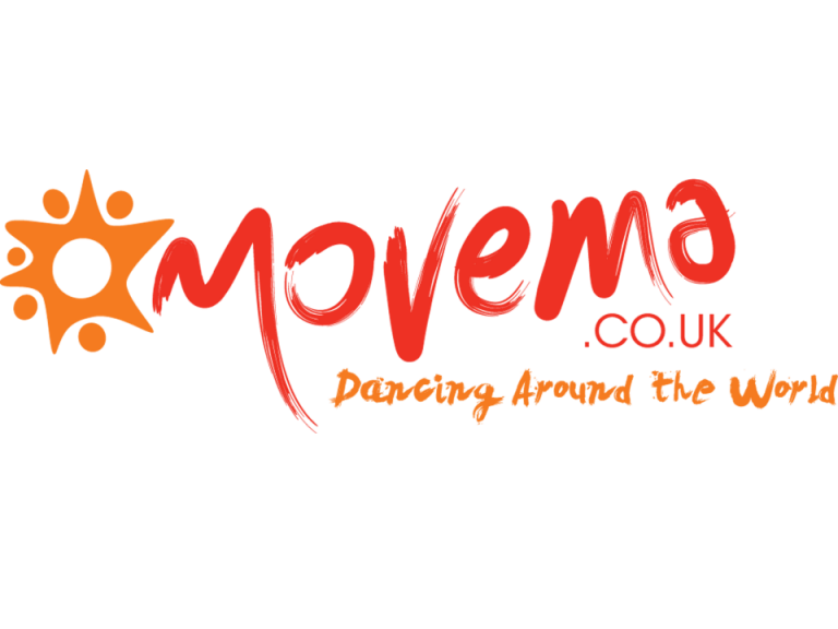 Movema logo and strapline: Dancing around the world