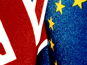 The Union and European flags