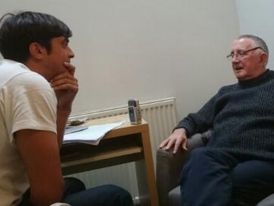 DJ Arveen Juthan interviews London Irish man, Derek.