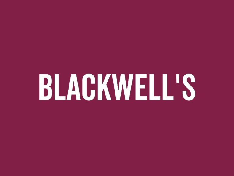 'Blackwell's' on a purple background (Film, art and animation)