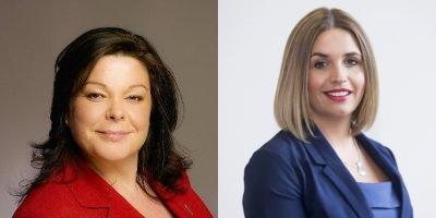 Dawn Purvis (left) and Elisha McCallion - press portraits
