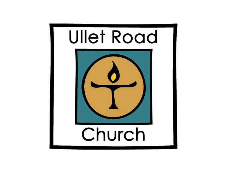 Ullet Road Unitarian Church logo of candle burning