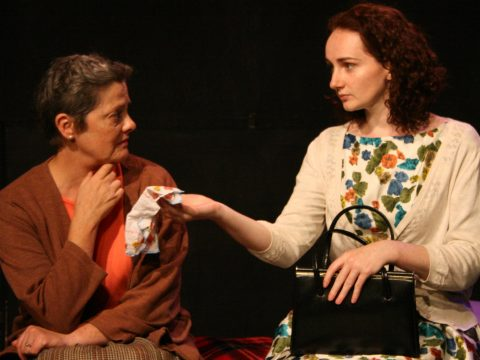 Sorcha Brooks, Pamela Flanagan as Pegeen and Aileen in Body & Blood (c) Unclouded Moon Productions