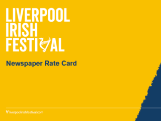 Newspaper rate card front page
