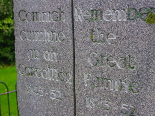 Irish Famine memorial tablets